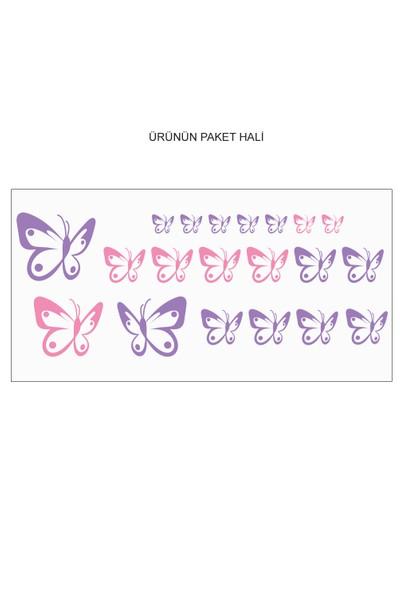 Besta Duvar Sticker Renkli Kelebekler