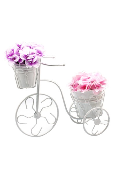 BS Maison Ferforje Saksılı Çiçeklik Bisiklet Set