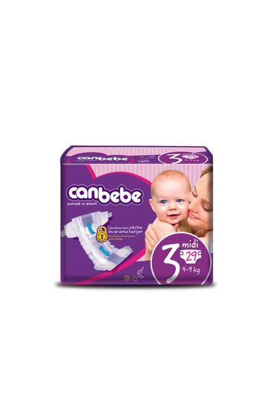 Canbebe Bebek Bezi Süper Ekonomik 3 Beden 29 Adet
