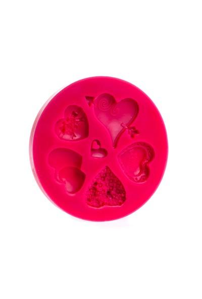 Patisse Kalp Şekilleri Silikon Kek Kalıbı