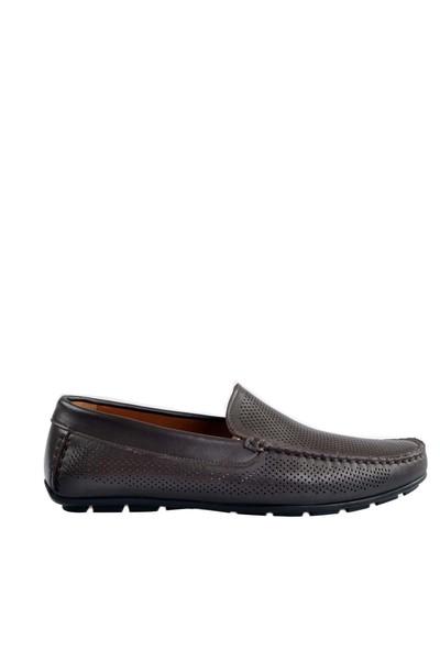Cabani Lazerli Makosen Günlük Erkek Ayakkabı Kahve Soft Deri