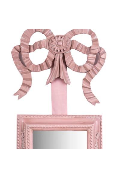 Porio Pembe Kurdeleli 2li Asma Dikdörtgen Ayna