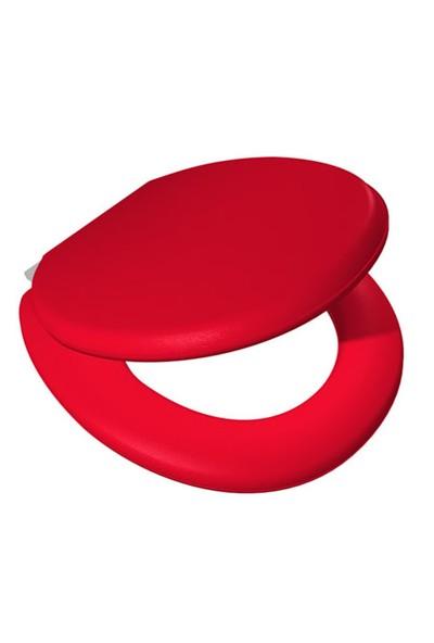 Alper Banyo Kırmızı Süngerli Klozet Kapağı