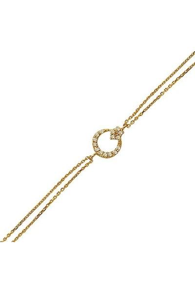 Bilezikhane Ay Yıldız Bileklik 2,01 Gram 14 Ayar Altın