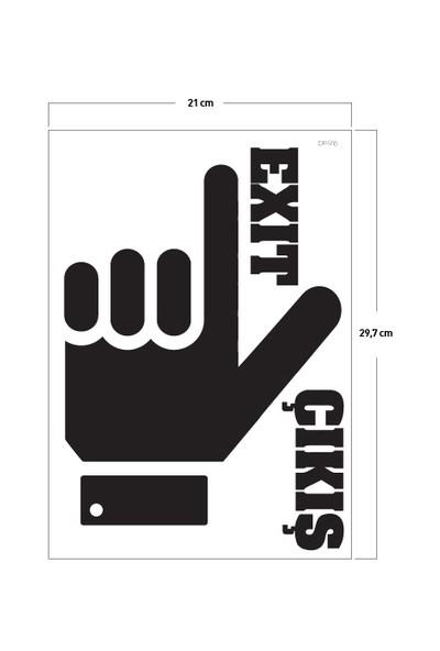 Artikel Burası Klozet Sticker 19 x 24 cm Dp-916