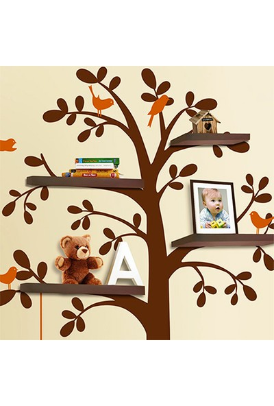 Besta Kahverengi Ağaç Duvar Sticker