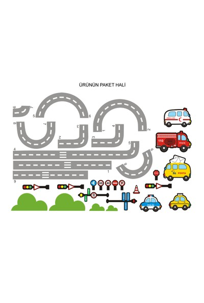 Besta Trafik Duvar Sticker