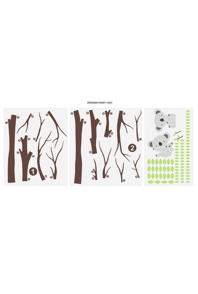 Besta Ağaçta Ayıcık Duvar Sticker