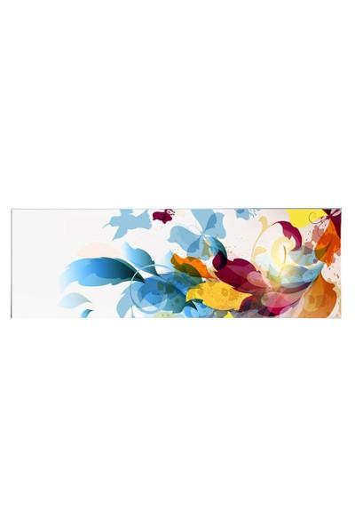 Arte Arte Çizim Kuş Ve Kelebek Kanvas Tablo 120 x 40 cm