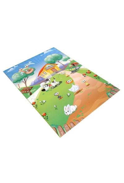 Jungle`S World Jungle`S World 28 Çiftlik Hayvan Çocuk Halısı 100 x 140 cm