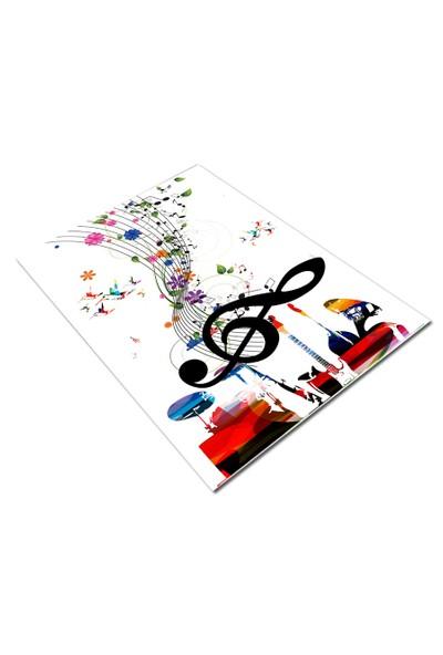Jungle`S World Jungle`S World 169 Notalı Müzik Çocuk Halısı 100 x 140 cm