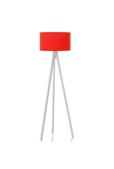 BS Maison Tripod Lambader Kırmızı Beyaz