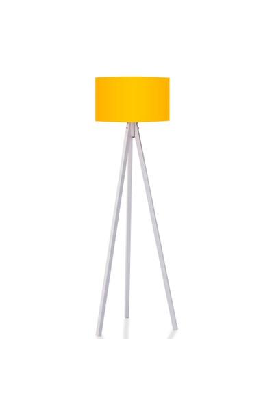 BS Maison Tripod Lambader Sarı Beyaz