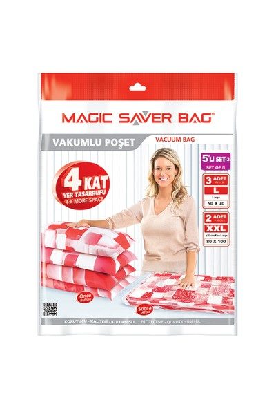 Magic Saver Bag 5 Li Bagaj Seti - 3