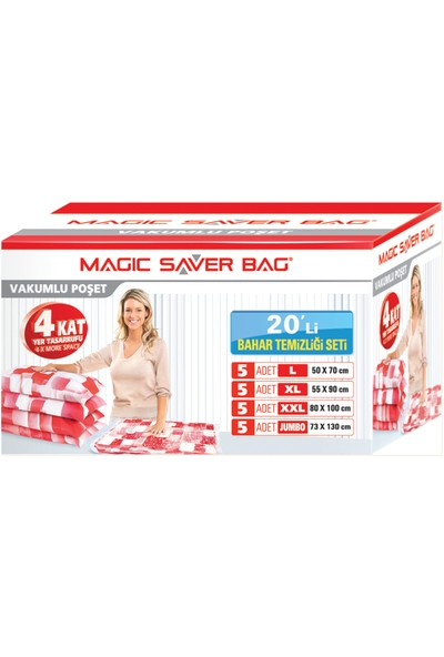 "Magic Saver Bag 20'li ""Bahar Temziliği Seti"""