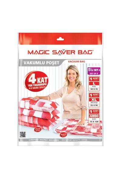 Magic Saver Bag 5 Li Bagaj Seti - 2