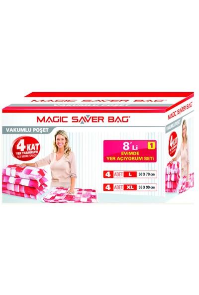 """Magic Saver Bag 8 Li """"Evimde Yer Açıyorum"""" Seti - 1"""