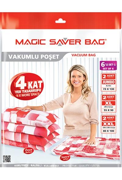 """Magic Saver Bag 6 Lı """"Odamda Kendime Yer Açıyorum"""" Seti - 1"""