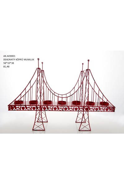 Vitale Dekoratif Köprü Mumluk