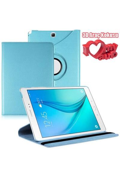 CoverZone Samsung Galaxy Tab A T350 Kılıf Mavi + 3d Araç Kokusu + 3d Araç Kokusu