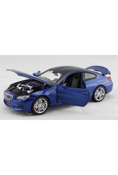 Vardem Bmw M6 1:32 Çek Bırak Mavi Metal Araba (Sesli Işıklı)