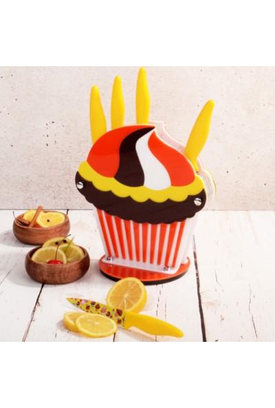 Rooc 0002 Cupcake Sarı Bıçak Set