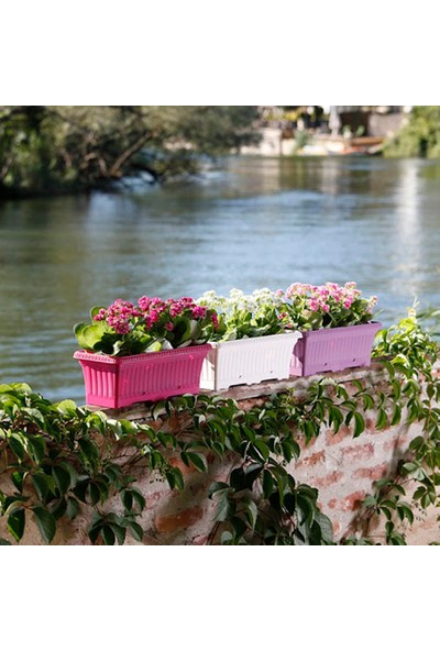 Mini Garden Ova Balkon Saksı 5,7 LT Beyaz