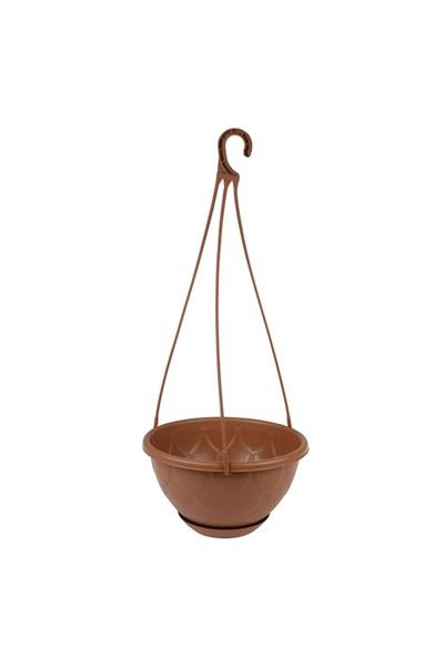 Mini Garden Damla Askılı Makrome Saksı 3 LT Kahverengi
