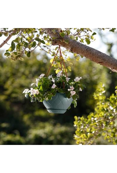 Mini Garden Damla Askılı Makrome Saksı 2 LT Yeşil