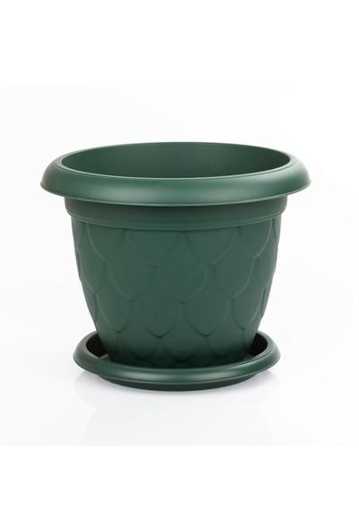 Mini Garden Damla Tabaklı Saksı Seti 3.4 LT Yeşil