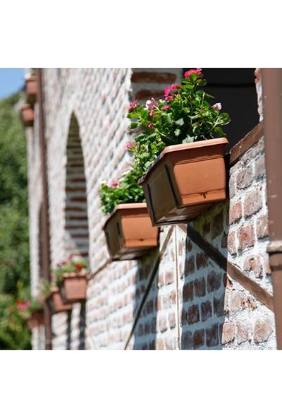 Mini Garden Villa Balkon Saksı Askılı 6 LT Kahverengi