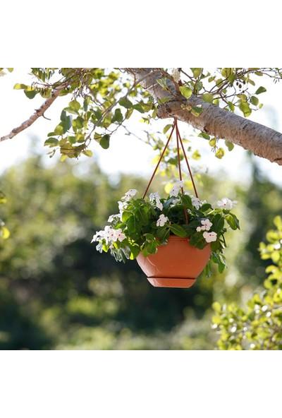 Mini Garden Damla Askılı Makrome Saksı 2 LT Kahverengi