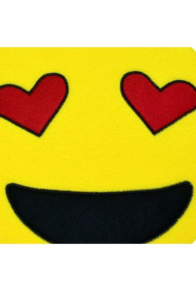 Smiley Concept Gözleri Aşk Emoji Yastık