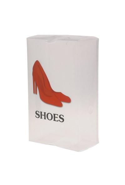 Gold Dekor Ayakkabı Saklama Kutusu Kırmızı