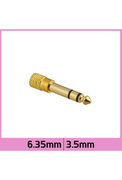 Ti-mesh Altın Kaplama 6.35mm Erkek 3.5mm Jack Stereo Ses Çevirici