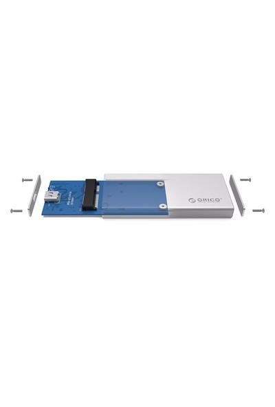 Orico MSA-UC3-SV (USB 3.1) Type C mSATA Aluminyum Harici Disk / SSD Kutusu