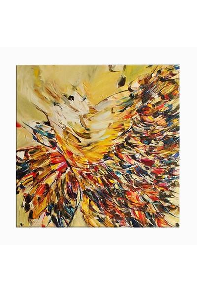 Arte Yağlıboya Kelebek Kanvas Tablo - 30x30 cm