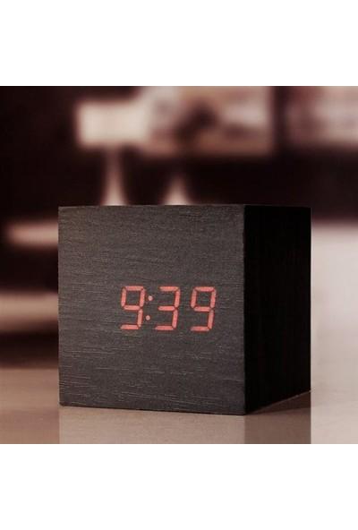 BuldumBuldum Clap On Cube Alarm Clock - Sese Duyarlı Küp Saat - Siyah