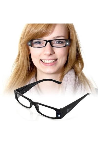 BuldumBuldum Led Reading Glasses - Led Işıklı Kitap Okuma Gözlüğü - Kahverengi - Numarasız