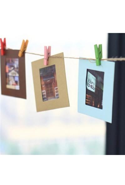 BuldumBuldum Hanging Paper Photo Frame - İpli Mandallı Resimlik