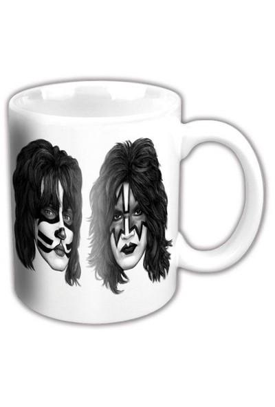 Rock Off Kiss Graphite Faces White Kupa Bardak