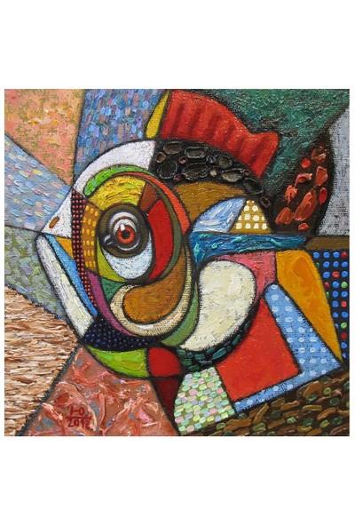 Arte Modern Balık Kanvas Tablo