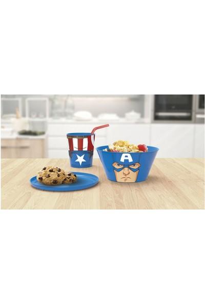 Kaptan Amerika 3'lü Beslenme Seti - Plastik
