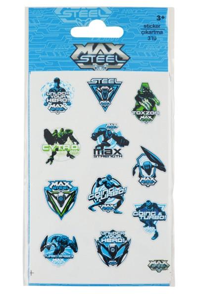 Max Steel Sticker 3'Lu Poşet Ms1300