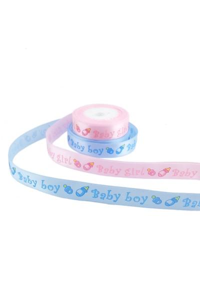 Tahtakale Toptancısı Saten Kurdele Biberonlu Baby Boy-Baby Girl 1.5 Cm (10 Metre)