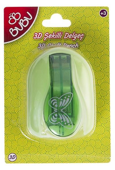 Bu-Bu Şekilli 3D Delgeç Kelebek BUBU-DE0017
