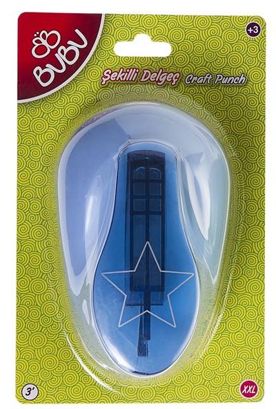 Bu-Bu Şekilli Eva Ve Kağıt Delgeç Yıldız 3 Xxl BUBU-DE0012