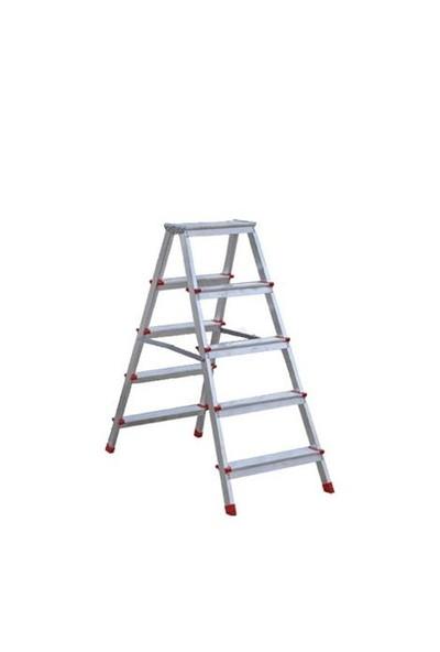 Anı-Lüx 5 Basamaklı Olimpos Çift Çıkışlı Alüminyum Merdiven - 1.03 Metre