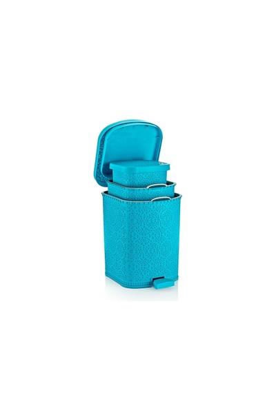 Özer Plastik Hasır Çöp Kovası 3 Adet-No:2,No:3,No:4