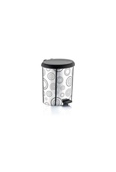Özer Plastik Metalize Çöp Kovası No:3- 10 Lt